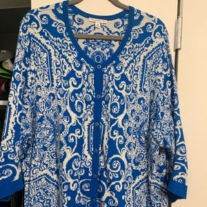 Isaac Mizrahi cardigan, sz 3x; 3/4 length sleeves
